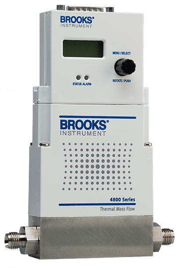 Brooks Instrument 4800 Series Elastomer Sealed Thermal Mass Flow Controllers & Meters